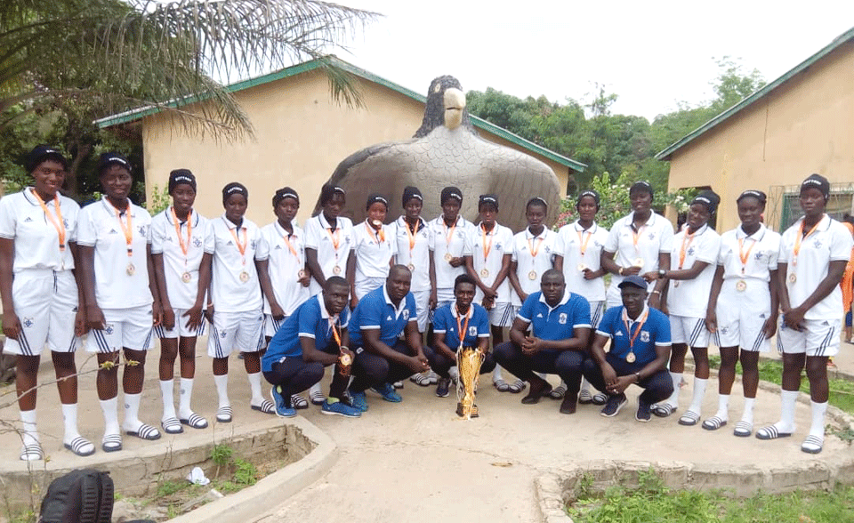 BOTTROP SENIOR SECONDARY DENIES GAMBIA SENIOR SECONDARY FEMALE TEAM A BACK TO BACK TROPHY